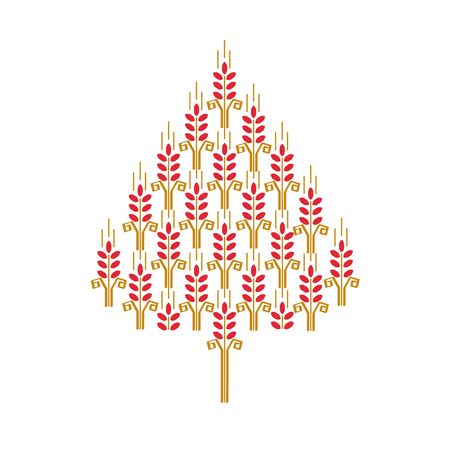 winter wheat: A new-year tree is done from ears