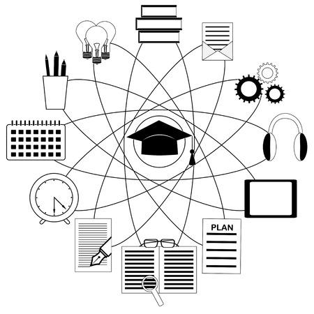 Online-Ausbildung und E-Learning-Konzept