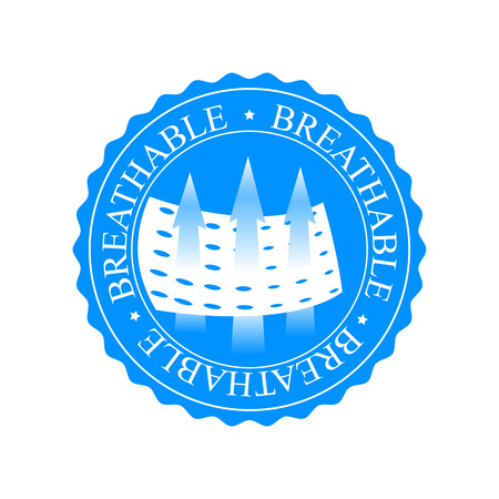 napkins: Circle shape breathable icon. Sign for clothing, diapers, snitary napkins and other things