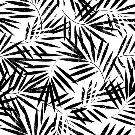 Tropical palm leaves seamless pattern. Vector illustration. Illustration