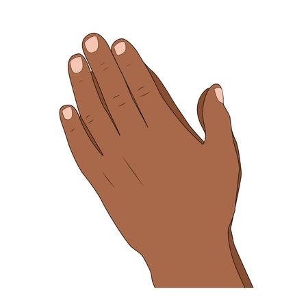 Praying hands gesture