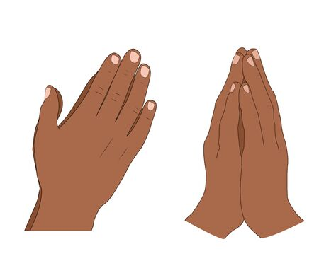 Human hands folded in prayer Illustration