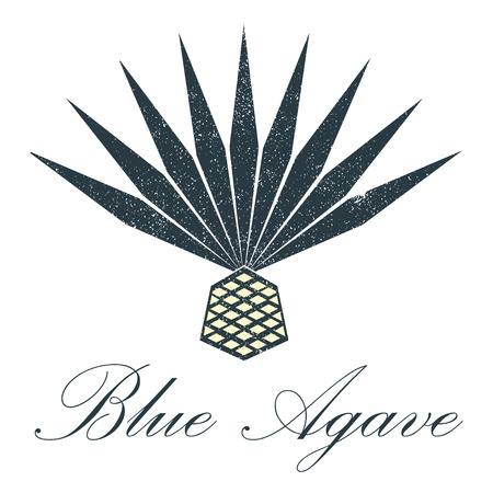 Blue agave icon vector design.