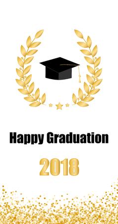 Graduate card. Class of 2018.  イラスト・ベクター素材