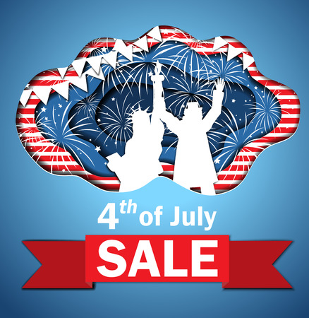 Independence Day Sale vector illustration. Illustration