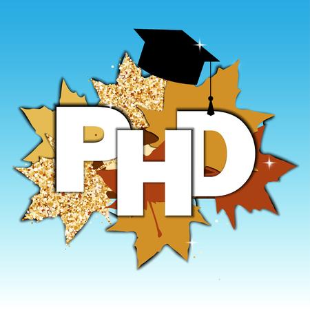 Doctor of Philosophy concept. PHD Иллюстрация