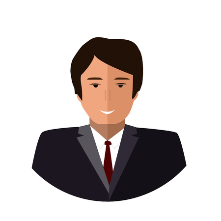 Boss Vector Icon. Flat colorful illustration. Office worker round icon Stock Illustratie