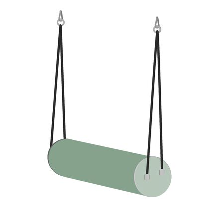 Swing for sensory integration, the important instrument for vestibular system improving. Vector illustration