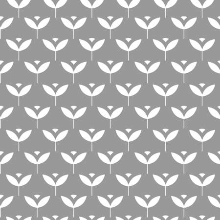 Seamless Scandinavian pattern with simple stylized plants. Vector illustration Иллюстрация