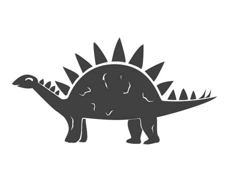 Vector illustration of Cute Cartoon Dinosaur. Little kid of Stegosaurus Ilustração