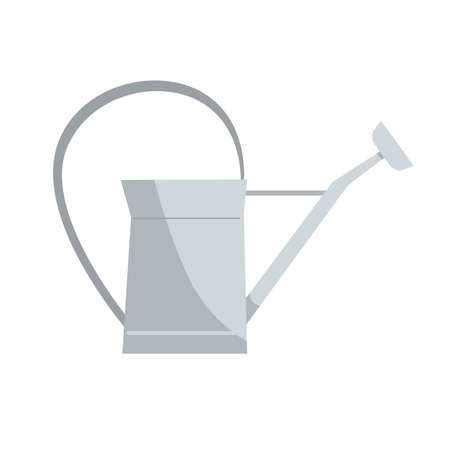Vintage metal watering can, a classic design. Gardening tool or rustic decoration element. Vector illustration isolated on a white background