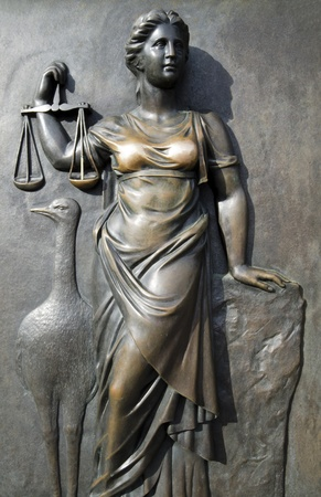 Themis relief without blindfolded