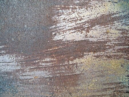 rusty metal texture in spots and dimples 2 photo