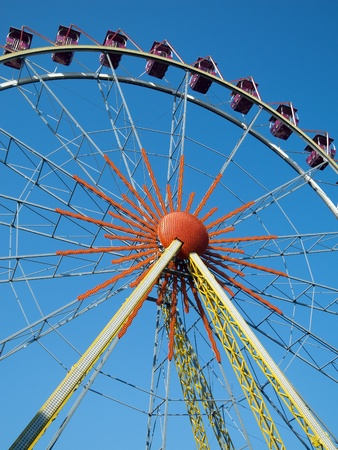 fairs: design elements ferris wheel on blue sky background
