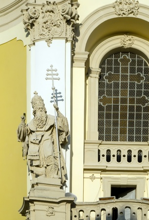 old religious statues in the ancient church photo
