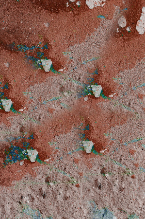 pits: texture of stucco with paint and small pits Stock Photo