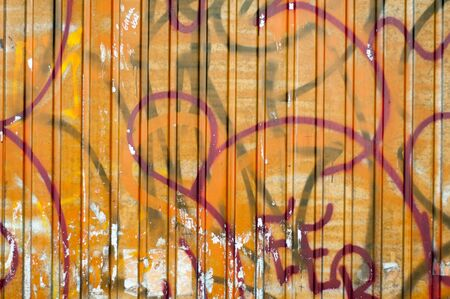 run down: Abstract painted grunge background