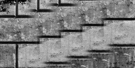 paredes de ladrillos: mampostería en mal estado en el tiempo y el clima