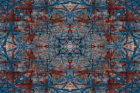 wall decor: symmetrical wall background Stock Photo