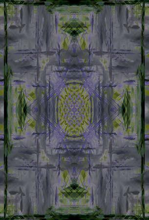 rough diamond: symmetrical color background Stock Photo