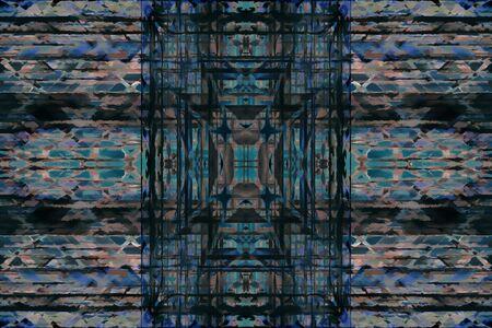 stone mason: symmetrical color background Stock Photo