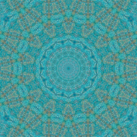Abstract Colorful Painted Kaleidoscopic Graphic Background. Futuristic Psychedelic Hypnotic Backdrop Pattern With Texture. Folk Ethnic Floral Ornamental Mandala. Vintage Decorative Geometric Mosaic