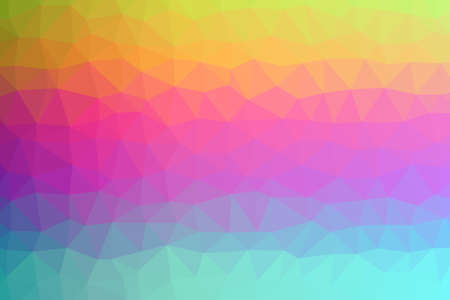 Abstract Low-Poly Triangular Modern Geometric Background. Colorful Polygonal Mosaic Pattern Template. Repeating Routine With Triangles. Origami Style With Gradient. Futuristic Design Backdrop