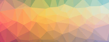 Abstract Low-Poly Triangular Modern Geometric Background.