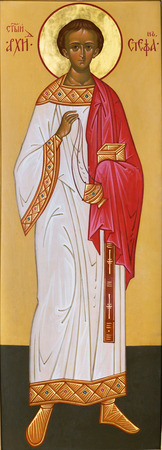 testaments: Archdeacon Stephen icon written in the ancient Russian style