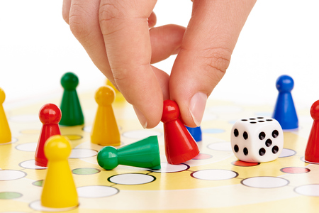 Board game with hand