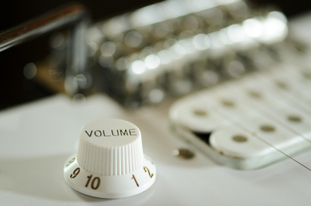 musically: guitar detail