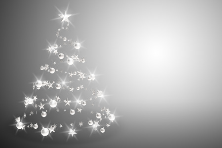 december background: Christmas tree spiral 3D rendering Stock Photo