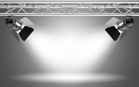 of irradiated: Stage light 3D rendering