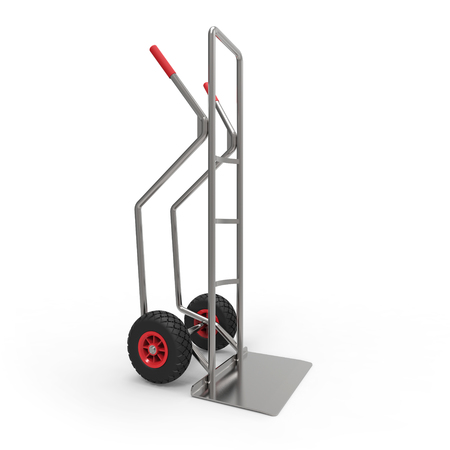 sack truck: Hand truck 3D rendering Stock Photo