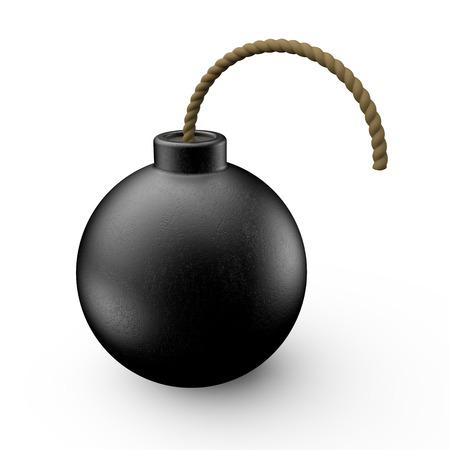 sabotage: Bomb, Dynamite, 3D rendering Stock Photo