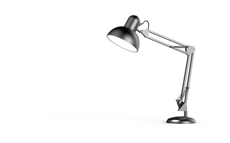 irradiated: Desk lamp isolated on white background 3D rendering