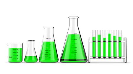 reagents: Laboratory glasses 3D rendering