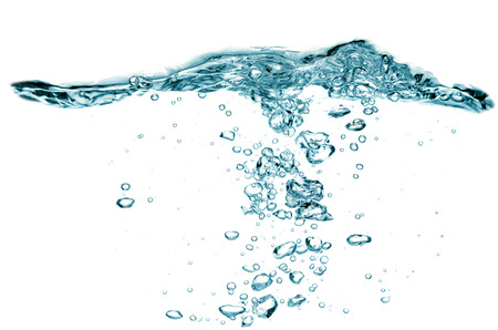 air bladder: Water waves and bubbles Stock Photo