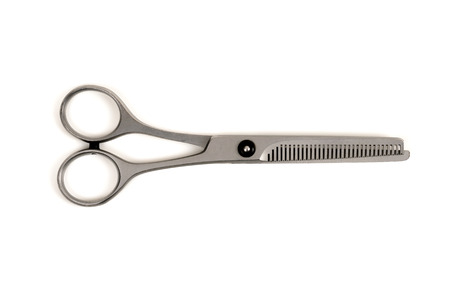 Professional haircutting scissors isolated on white background Stock Photo