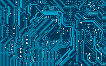 Vector blue electronic circuit board background