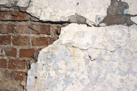 suffusion: Old brick wall painted with white paint Stock Photo