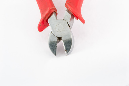 Wire Cutters on white background Stock Photo