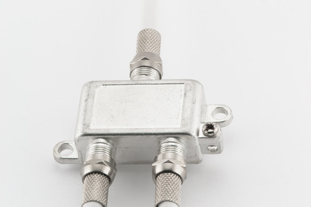 splitter: Splitter for connecting cables on a white background