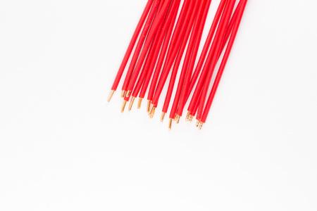 Roter Draht Auf Einem Weißen Hintergrund Lizenzfreie Fotos, Bilder ...
