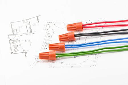 reliably: Schematic diagram of the wiring Stock Photo
