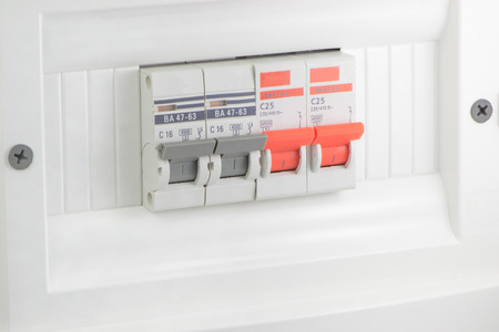 busbar: Automatic electricity home use white