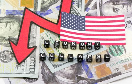 L'effondrement de l'économie américaine Banque d'images - 65486641