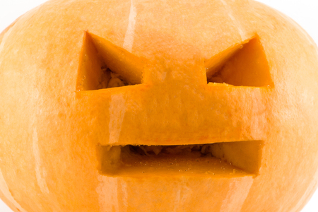 spit: Pumpkins for Halloween on a white background