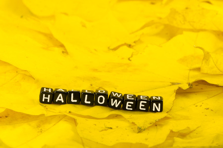 spit: The word Halloween in the form of a concept Stock Photo