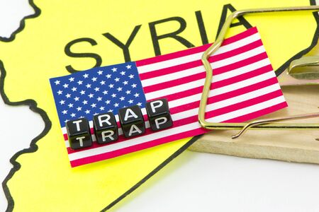 bloodshed: Trap the United States in the Syrian war Stock Photo